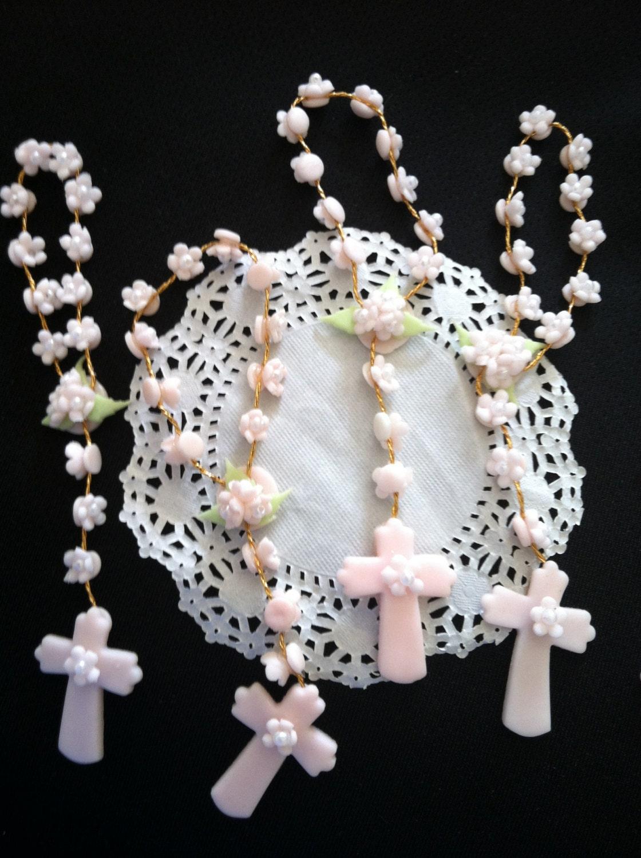 Baptism favor for girl boys mini rosaries