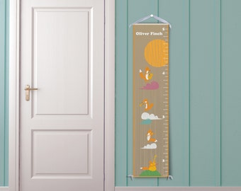 Personalized Growth Chart - Musical Foxes