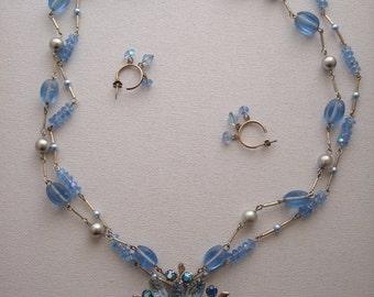 Vintage Brooch Necklace