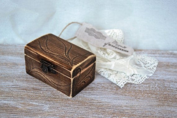 unique wedding ring box ring pillow wooden ring holder rustic