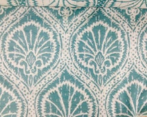 Turquoise Fan Sea Breeze Upholstery Fabric