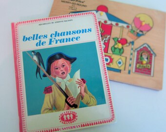 Belles chansons de France by Simonne Baudoin - Vintage French Children Book