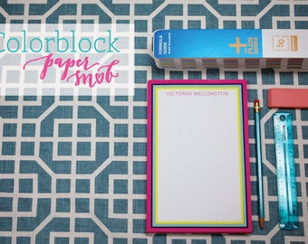 Personalized Color Block Notepad