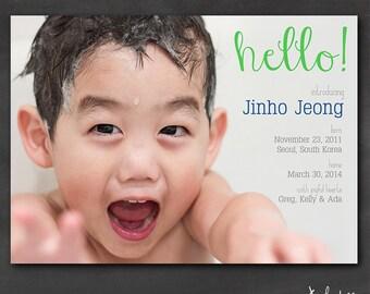Adoption Announcement (Set of 50+) - Full Photo Hello