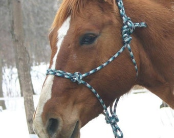 Custom Classic Rope Halter - Two Knots w Standard Rope