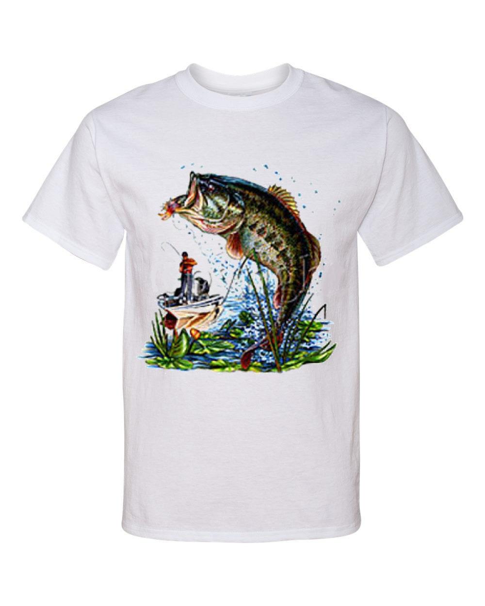 Big mouth bass fishing screen print t shirt by for Big fish screen printing