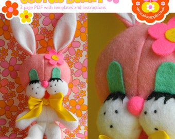 Sewing Pattern PDF - Make your own Retro Kitsch Bunny
