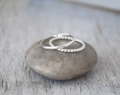 Silver Stacking Rings - Sterling Silver Stack Rings - Handcrafted  Silver Rings - Silver Ring Stack Set