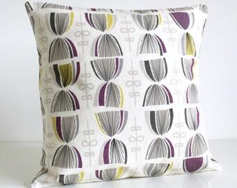 Throw Pillow Cover, Decorative Pillow Cover, Pillow Sham, Cushion Cover, Purple Pillowcase, Pillow slip - Hourglass Aubergine
