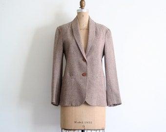 1970s taupe wool tweed blazer - ladies Autumn jacket / Avecami - Uruguay / vintage 70s - classic - tweedy