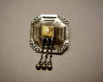 Antique Jugendstil Brooch Alfred Bernheim Theodor Fahrner Arts Crafts Art Nouveau Secessionist 800 Silver German Japonisme Darmstadt Brosche