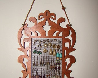 Hanging Earring Organizer/Display   'Miss Bombay'  (Copper)
