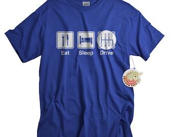 Race Car Shirt for Men Teens Eat Sleep Drive T shirt Funny Car Lover Racing Driving TShirt