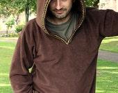 Hoodie for Men -  Medieval hoodie - elven hoodie -Psy clothing- pointy hood -SCA clothing - Pointy hood jacket - Christmas gift for him