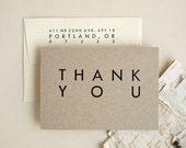 Wedding Thank You Cards - Rustic Modern Style - Wholesale Bulk Order - Folded Utility