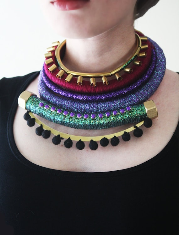 African Inspired Necklace Ooak African Inspired Jewelry
