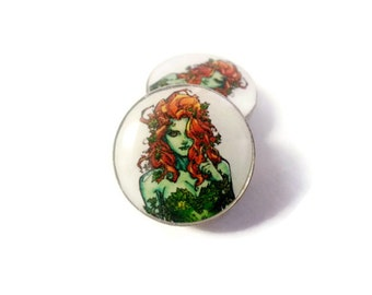 Poison Ivy Villainess Plugs sizes 2g - 2 Inches Double Flare or Single Flare