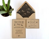 rustic wedding invitation, woodsy wedding invitation, camp wedding invitation, mountain wedding invitation, kraft wedding invitation,natural
