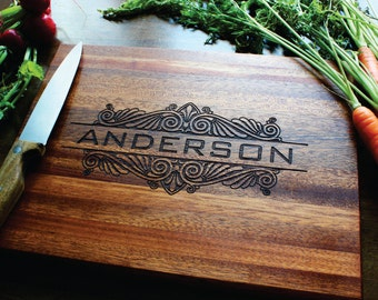 Persoanlized Cutting Board, Personalized Gift For Women, Husband Christmas Gift, Boyfriend Gift, Gifts For Mom, Gifts For Men? Family name