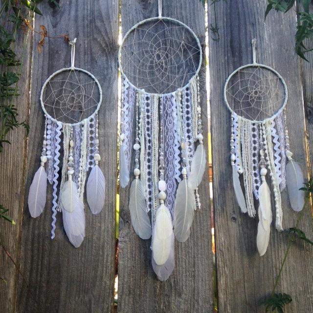 custom white dreamcatcher boho decor dream catcher nursery