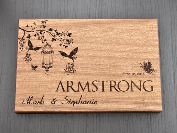Personalized cutting board custom wedding gift housewarming
