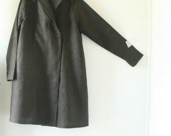 LINEN COAT - gretel / hoodie coat / autumn / spring / linen jacket / women / linen hooded dress / australia / eco / organic / pamelatang