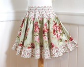 Floral Rose Girls Skirt Custom Boutique Girl Clothes Ruffled Girl Twirl Skirt Kid Gift Child Clothing 2T 3T 4 5 6 7 8 10 12 14 Kids Clothes