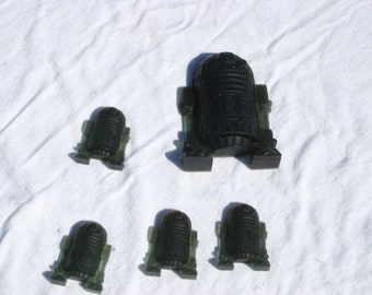 6 Small R2D2 Glycerin Soap