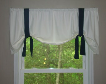 White Tie Up Curtains Canvas Tie Up Curtains