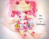Artsy cloth doll