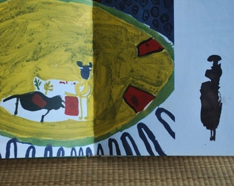 vintage book: Children's Homage to Picasso with 52 drawings by Picasso and 48 by the children of Vallauris, 1970, first edition