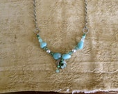 Amazonite Necklace, organic, natural, by nancelpancel on Etsy