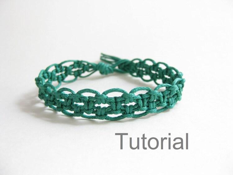 Macrame bracelet pdf explications tutoriel for t par knotonlyknots - Macrame pour debutant ...