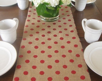Valentine's Day Table Decor / Valentines Table Runner / Red Table Runner