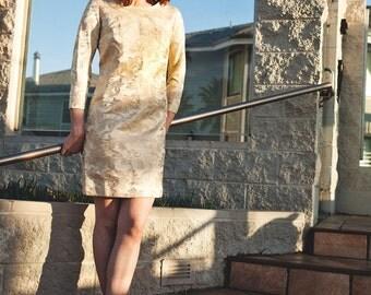 Vintage 60s Brocade Mini Dress