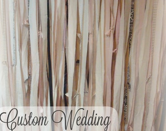 PhotoBooth Backdrop // Fabric Garland // Fabric Wedding Banners // Party, Photo Prop, Photo Booth, Backdrop, You CHooSe CoLoR / STYLe!!