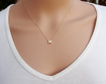 100% Shiny Gold filled Personalized Necklace ,Gold necklace personalized ,Gold Initial Necklace, Personalize Necklace, Personalized Jewelry.