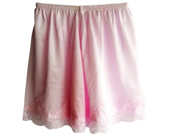 PPNTPK PINK New Half Slips Shorts Pettipants Nylon Lingerie Women Ladies