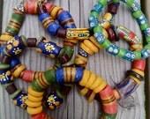 Handmade African Bead Bracelets - Ghana Edition