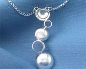 Silver Bubbles Pendant, Modern Jewelry Art