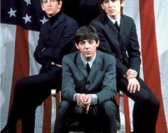 The Beatles American Flag Color   Rare Poster