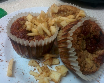 low carb high protein apple cinnamon jumbo muffins (available in vegan)