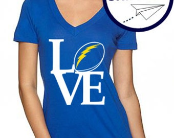 San Diego Chargers LOVE - Royal Blue - Free Shipping