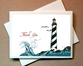 Lighthouse Thank You Cards (24 cards and envelopes)