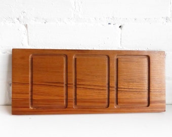 Solid Teak Wooden Serving Tray or Cheese Board.
