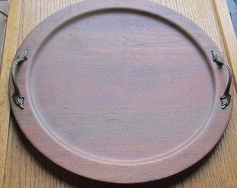 Vintage Ozark Walnut Ware Solid Walnut 14 1/4 Inch Tray 1970 Era