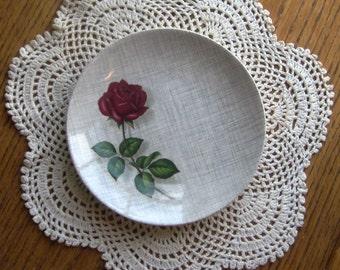 Vintage J & G Meakin SOL China Single Red Rose Carmen Pattern 391413 Plate