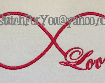 LOVE INFINITY - Valenine or Wedding Gift - INSTANT Download Machine Embroidery Design by Carrie