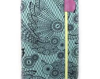 iPad Mini Cover - Raven Lace  - tablet case - dusty teal lace pattern ipad mini case