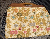 Vintage Beige Floral Carpetbag AS-IS